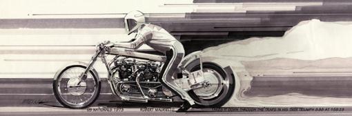 Triumph Drag Bike - 12 x 36